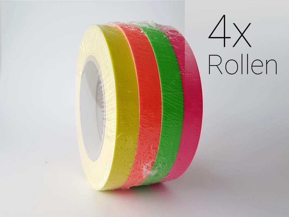 Neon Tape Art Set mit 4 Rollen 15mm